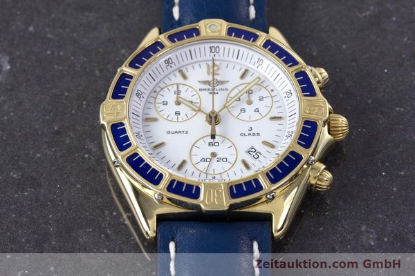 Used luxury watch Breitling J-Class chronograph 18 ct gold quartz Kal. ETA 251262  | 160117 13