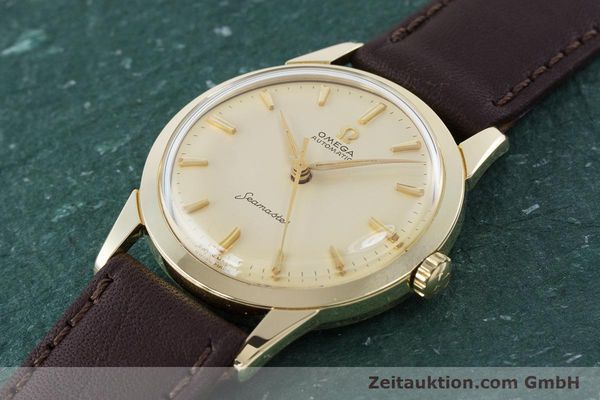Used luxury watch Omega Seamaster 14 ct yellow gold automatic Kal. 591 VINTAGE  | 160125 01