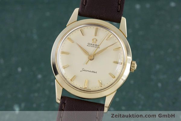 Used luxury watch Omega Seamaster 14 ct yellow gold automatic Kal. 591 VINTAGE  | 160125 04