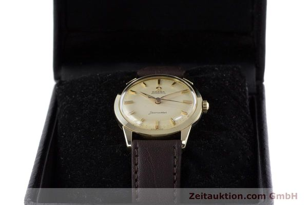 Used luxury watch Omega Seamaster 14 ct yellow gold automatic Kal. 591 VINTAGE  | 160125 07