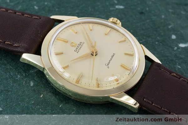 Used luxury watch Omega Seamaster 14 ct yellow gold automatic Kal. 591 VINTAGE  | 160125 13
