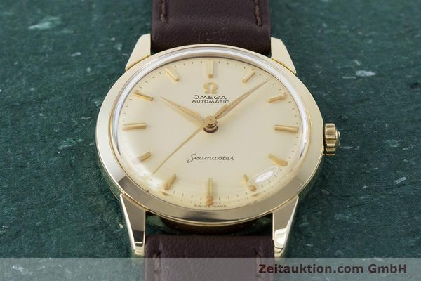 Used luxury watch Omega Seamaster 14 ct yellow gold automatic Kal. 591 VINTAGE  | 160125 14