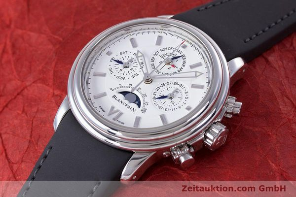 Used luxury watch Blancpain Perpetual Calendar chronograph steel automatic Kal. 5585  | 160128 01