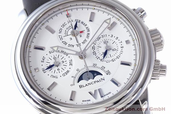 Used luxury watch Blancpain Perpetual Calendar chronograph steel automatic Kal. 5585  | 160128 02