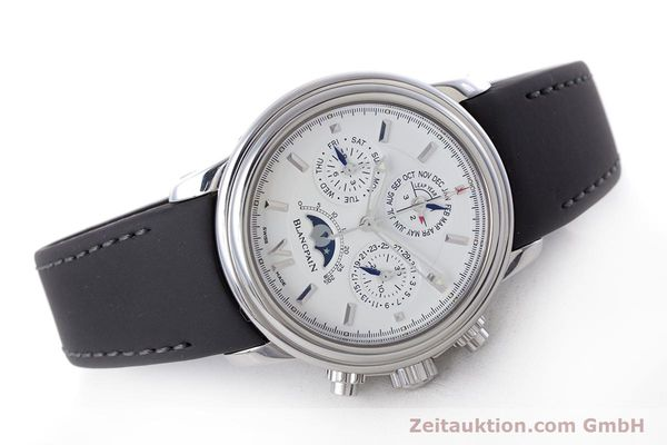 Used luxury watch Blancpain Perpetual Calendar chronograph steel automatic Kal. 5585  | 160128 03