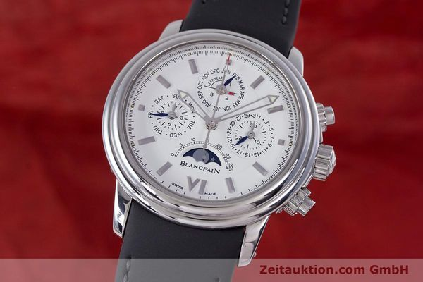 Used luxury watch Blancpain Perpetual Calendar chronograph steel automatic Kal. 5585  | 160128 04