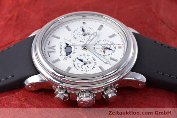 Used luxury watch Blancpain Perpetual Calendar chronograph steel automatic Kal. 5585  | 160128 05
