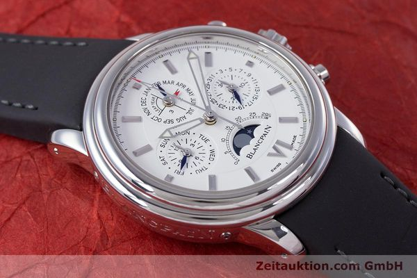 Used luxury watch Blancpain Perpetual Calendar chronograph steel automatic Kal. 5585  | 160128 13