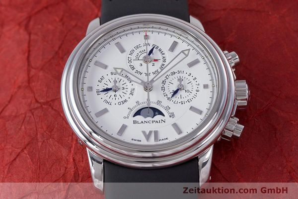 Used luxury watch Blancpain Perpetual Calendar chronograph steel automatic Kal. 5585  | 160128 14