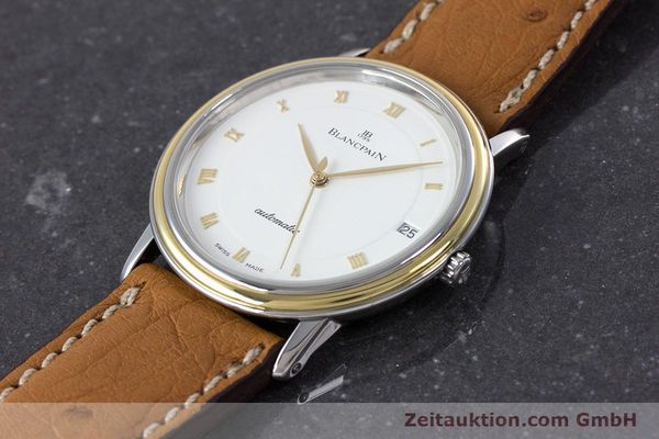 Used luxury watch Blancpain Villeret steel / gold automatic Kal. 9513  | 160132 01