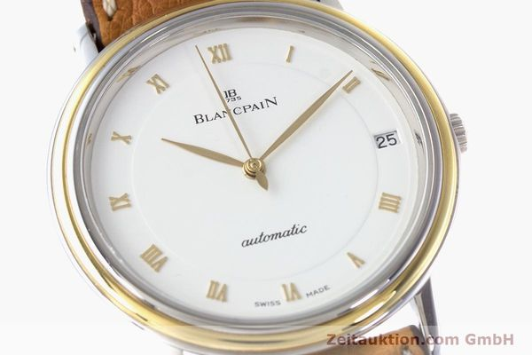 Used luxury watch Blancpain Villeret steel / gold automatic Kal. 9513  | 160132 02