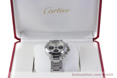 CARTIER PASHA CHRONOGRAPH STEEL AUTOMATIC KAL. 047 [160133]