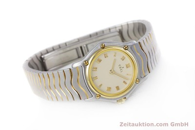 EBEL CLASSIC WAVE STEEL / GOLD QUARTZ KAL. 057 [160134]