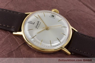 GLASHÜTTE GOLD-PLATED MANUAL WINDING KAL. 69.1 VINTAGE [160137]