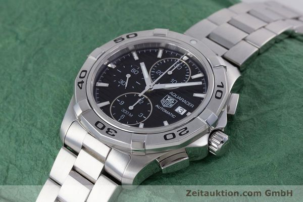 Used luxury watch Tag Heuer Aquaracer chronograph steel automatic Kal. 16 ETA 7750 Ref. CAP2110  | 160160 01