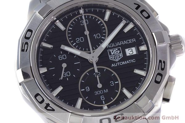 Used luxury watch Tag Heuer Aquaracer chronograph steel automatic Kal. 16 ETA 7750 Ref. CAP2110  | 160160 02