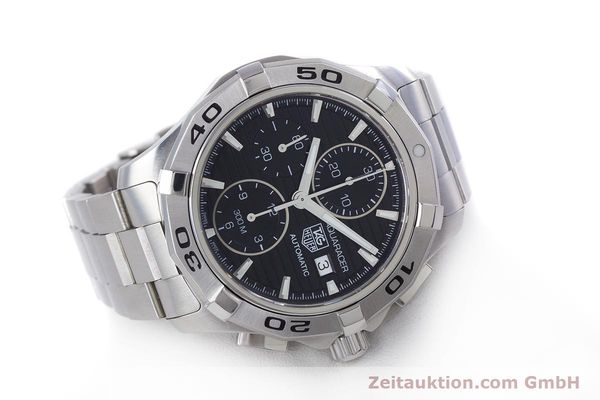 Used luxury watch Tag Heuer Aquaracer chronograph steel automatic Kal. 16 ETA 7750 Ref. CAP2110  | 160160 03