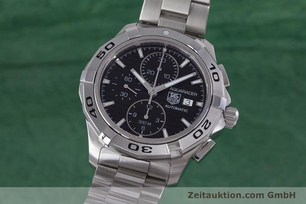 Used luxury watch Tag Heuer Aquaracer chronograph steel automatic Kal. 16 ETA 7750 Ref. CAP2110  | 160160 04