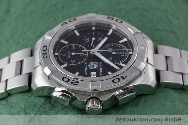 Used luxury watch Tag Heuer Aquaracer chronograph steel automatic Kal. 16 ETA 7750 Ref. CAP2110  | 160160 05