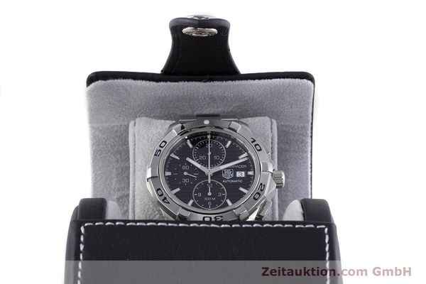 Used luxury watch Tag Heuer Aquaracer chronograph steel automatic Kal. 16 ETA 7750 Ref. CAP2110  | 160160 07