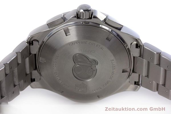 Used luxury watch Tag Heuer Aquaracer chronograph steel automatic Kal. 16 ETA 7750 Ref. CAP2110  | 160160 09