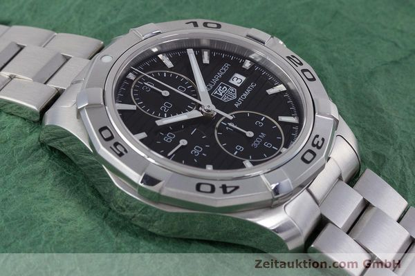 Used luxury watch Tag Heuer Aquaracer chronograph steel automatic Kal. 16 ETA 7750 Ref. CAP2110  | 160160 14
