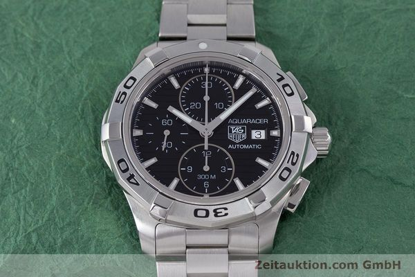 Used luxury watch Tag Heuer Aquaracer chronograph steel automatic Kal. 16 ETA 7750 Ref. CAP2110  | 160160 15