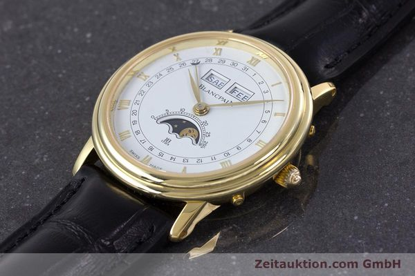 Used luxury watch Blancpain Villeret 18 ct gold manual winding Kal. 64 Peseux 7001  | 160166 01