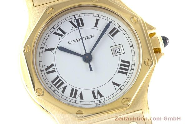 Used luxury watch Cartier Santos 18 ct gold automatic Kal. ETA 2671  | 160199 02