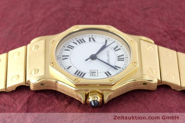 Used luxury watch Cartier Santos 18 ct gold automatic Kal. ETA 2671  | 160199 05