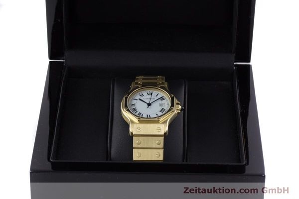 Used luxury watch Cartier Santos 18 ct gold automatic Kal. ETA 2671  | 160199 07