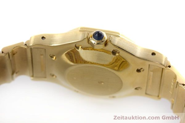 Used luxury watch Cartier Santos 18 ct gold automatic Kal. ETA 2671  | 160199 08