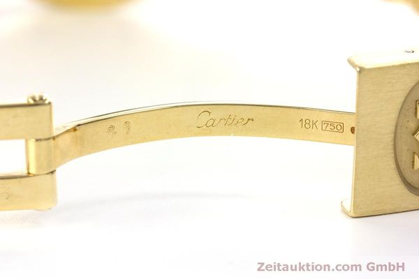 Used luxury watch Cartier Santos 18 ct gold automatic Kal. ETA 2671  | 160199 11