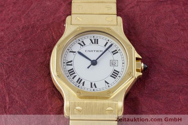 Used luxury watch Cartier Santos 18 ct gold automatic Kal. ETA 2671  | 160199 15