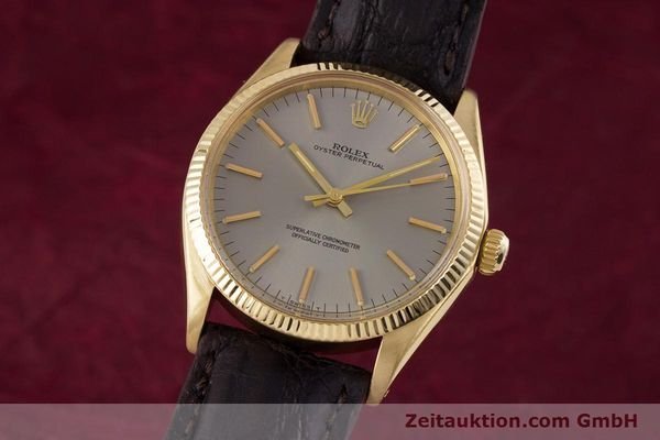 ROLEX OYSTER PERPETUAL 18 CT GOLD AUTOMATIC KAL. 1570 LP: 19050EUR  [160216]