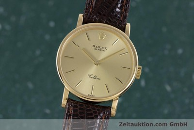 ROLEX CELLINI OR 18 CT À REMONTAGE MANUEL KAL. 1602 LP: 4300EUR [160238]