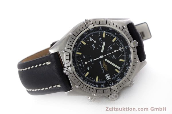 Used luxury watch Breitling Chronomat chronograph steel automatic Kal. Valj.  7750 Ref. 81950  | 160260 03