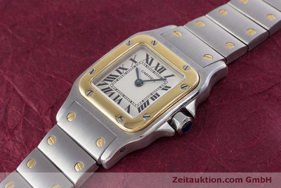 CARTIER SANTOS ACIER / OR QUARTZ KAL. 157 LP: 5600EUR [160282]