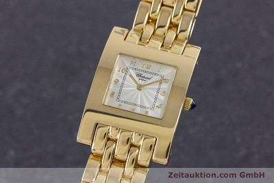 CHOPARD LADY 18K (0,750) GOLD YOUR HOUR DAMENUHR SAPHIRGLAS VP: 20710,- EURO [160283]