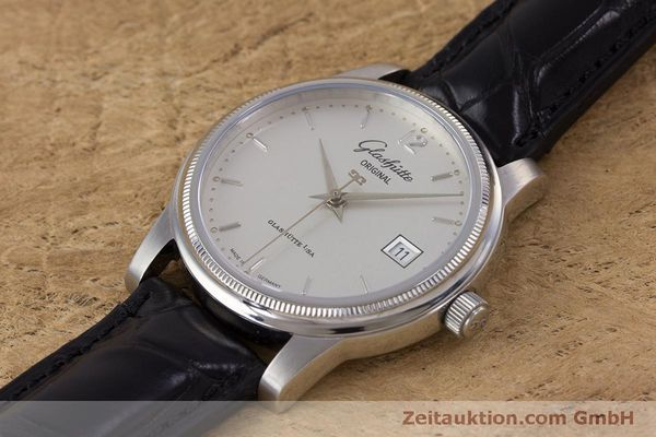 Used luxury watch Glashütte Senator steel automatic Kal. GUB 39  | 160298 01