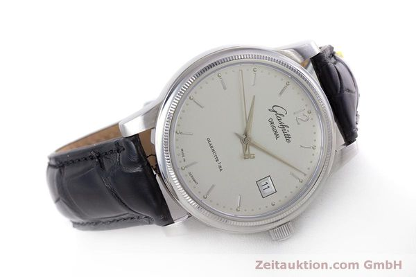Used luxury watch Glashütte Senator steel automatic Kal. GUB 39  | 160298 03