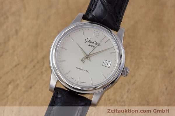 Used luxury watch Glashütte Senator steel automatic Kal. GUB 39  | 160298 04