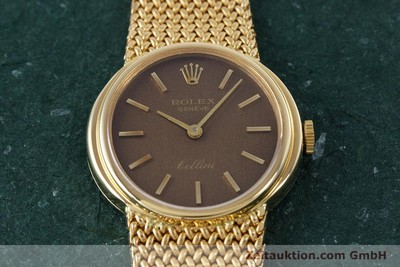 ROLEX LADY CELLINI 18K (0,750) GOLD HANDAUFZUG DAMENUHR REF 4074 VP: 13350,- EUR [160310]