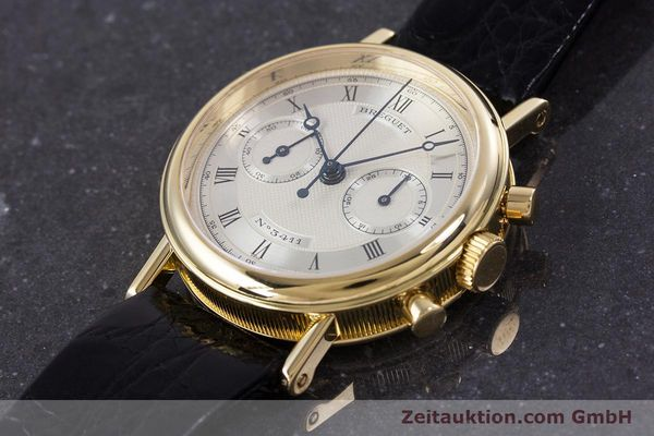 Used luxury watch Breguet Classique chronograph 18 ct gold manual winding Kal. 865 Ref. 3237  | 160321 01