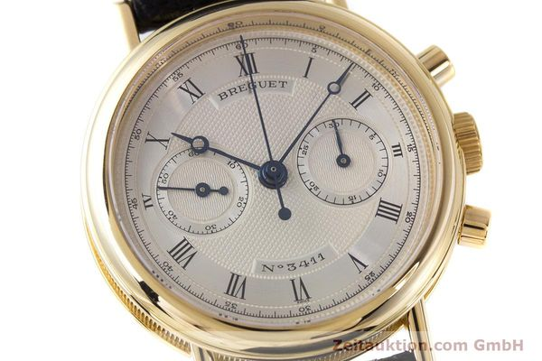 Used luxury watch Breguet Classique chronograph 18 ct gold manual winding Kal. 865 Ref. 3237  | 160321 02