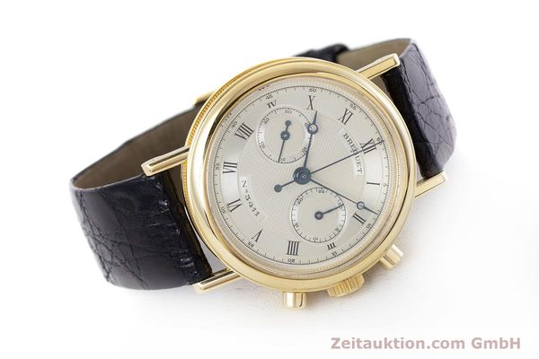 Used luxury watch Breguet Classique chronograph 18 ct gold manual winding Kal. 865 Ref. 3237  | 160321 03