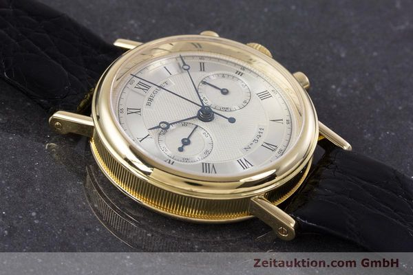 Used luxury watch Breguet Classique chronograph 18 ct gold manual winding Kal. 865 Ref. 3237  | 160321 13