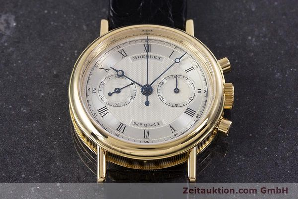 Used luxury watch Breguet Classique chronograph 18 ct gold manual winding Kal. 865 Ref. 3237  | 160321 14