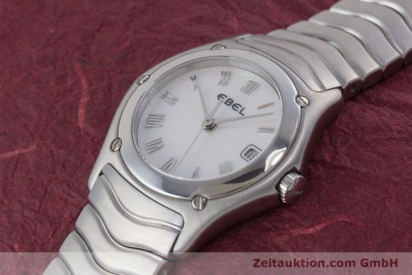 Used luxury watch Ebel Classic Wave steel quartz Kal. 87 Ref. 9087F21  | 160375 01