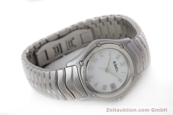 Used luxury watch Ebel Classic Wave steel quartz Kal. 87 Ref. 9087F21  | 160375 03